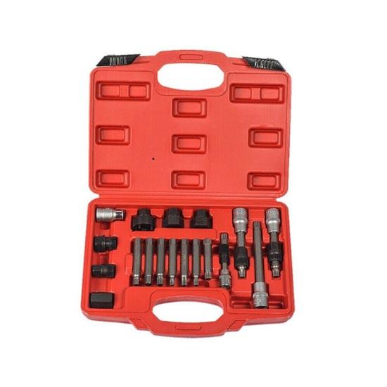 24pcs Hand Tools Alternator  Freewheel Pulley Removal Kit