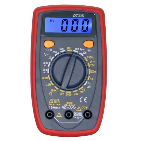 Small Multimeter with Backlight