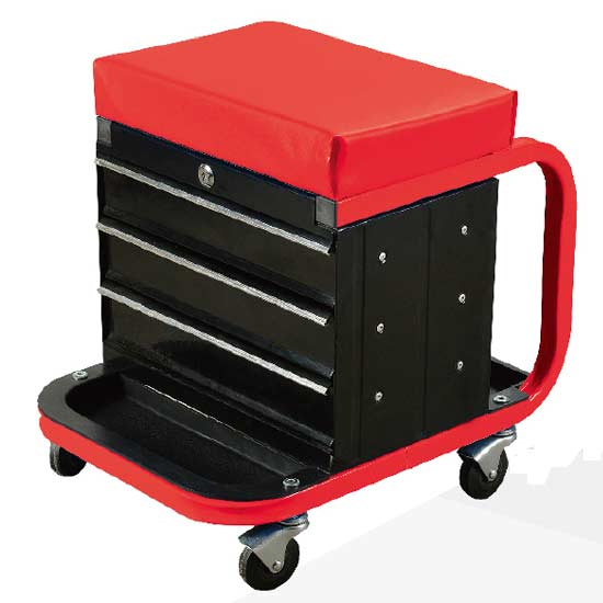 Rolling Working Cabinet Seat