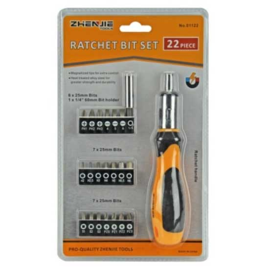 22PCS Ratchet Bit Set