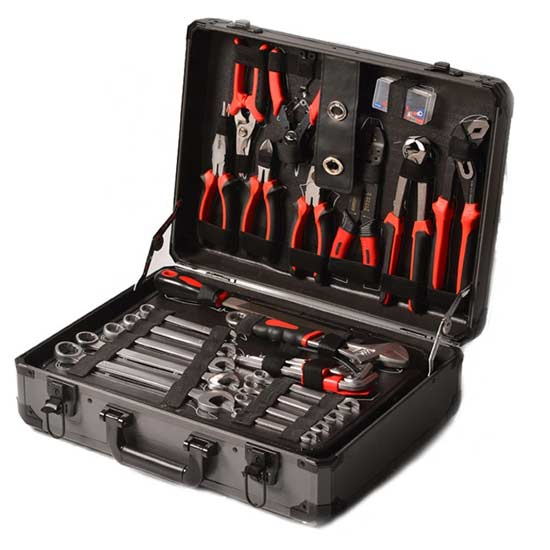 Chrome Vanadium 152PCS Household Hardware Repair Hand Tool Set In Aluminum Box